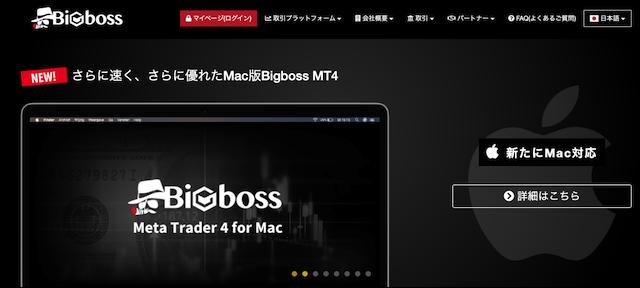 レバレッジ制限なし業者②BigBoss