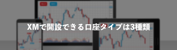 XM(Trading)で開設できる口座タイプは3種類